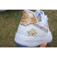 Air Force 1 Chinese Year White Gold Peony New Style JiH6E