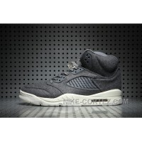 Air Jordan 5 Wool Dark Grey Authentic HjetR
