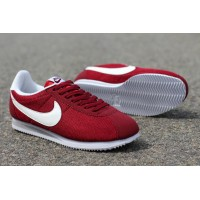 Mens Nike Cortez Leather Black Red White