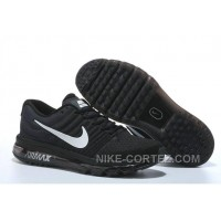 Authentic Nike Air Max 2017 Black Silver For Sale 56AAJx2