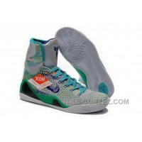 Buy Cheap Nike Kobe 9 2014 High Top Grey Green Jade Mens Shoes Copuon Code RYMMX7