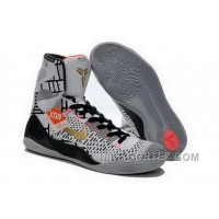 Buy Cheap Nike Kobe 9 2014 High Top White Black Gold Mens Shoes Discount DfmRCDW