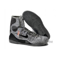Buy Cheap Nike Kobe 9 2014 High Tops Grey Black Mens Shoes New Style 5Zw4b