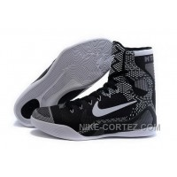 Buy Cheap Nike Kobe 9 High 2015 Black January Black White Mens Shoes Free Shipping 2PpNb