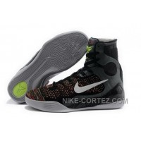 Buy Cheap Nike Kobe 9 High 2015 Black White Mens Shoes Discount CBh7f