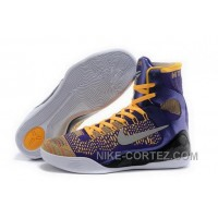 Buy Cheap Nike Kobe 9 High 2015 Elite Lakers Yellow Purple Mens Shoes Lastest XhKwf6j