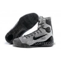 Buy Cheap Nike Kobe 9 High 2015 Grey Black Mens Shoes Super Deals 8d5Y3mt