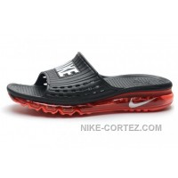 Mens Cheap Nike Air Max Sandals 2015 Black And Red Silver 2016 Rabatte