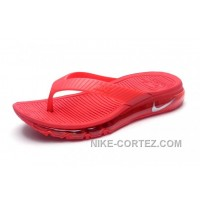 Girls Nike Air Max 2015 Slide Sandals Flip Flops Slipper Red 2016 Rabatte