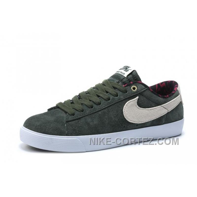 704939 nike sb blazer low gt men sneakers olive green 2016. Black Bedroom Furniture Sets. Home Design Ideas