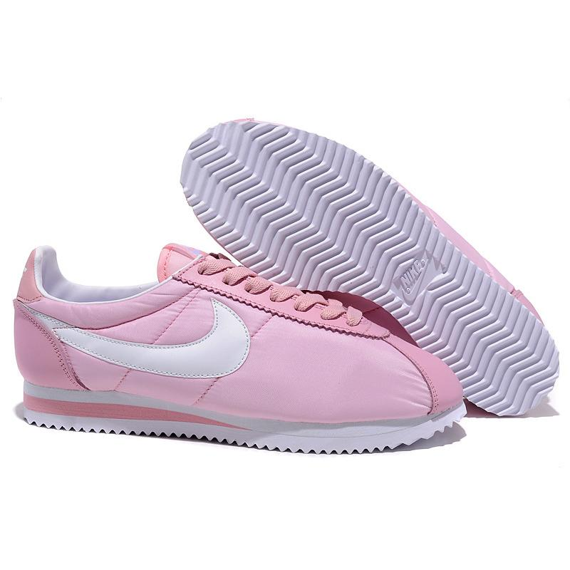 womens nike cortez pink green